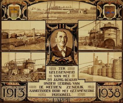 Tegelplaquette van de Olster Asphalt Fabriek